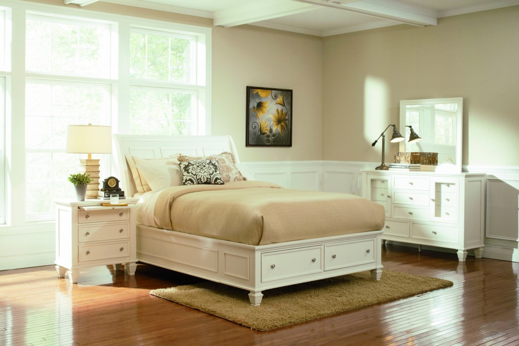 White Bed with Storage King Bedroom Set 1024 x 682