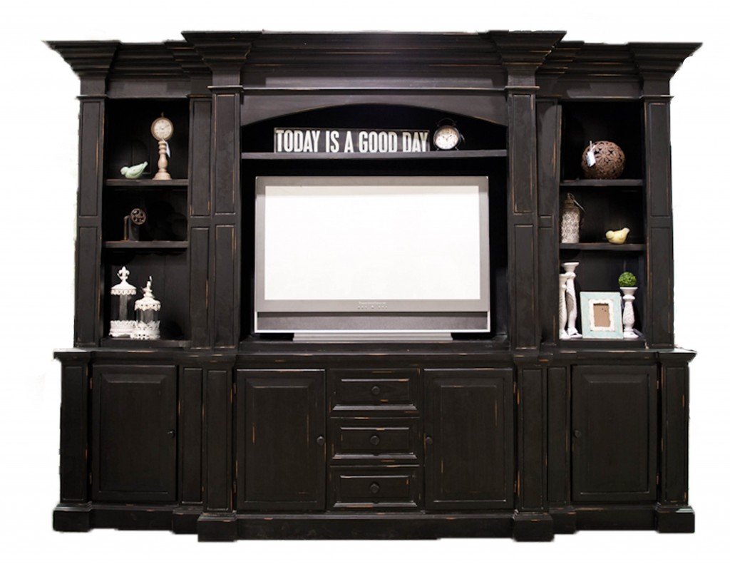 Sarah Large Painted Entertainment Center | Passport Furnishings