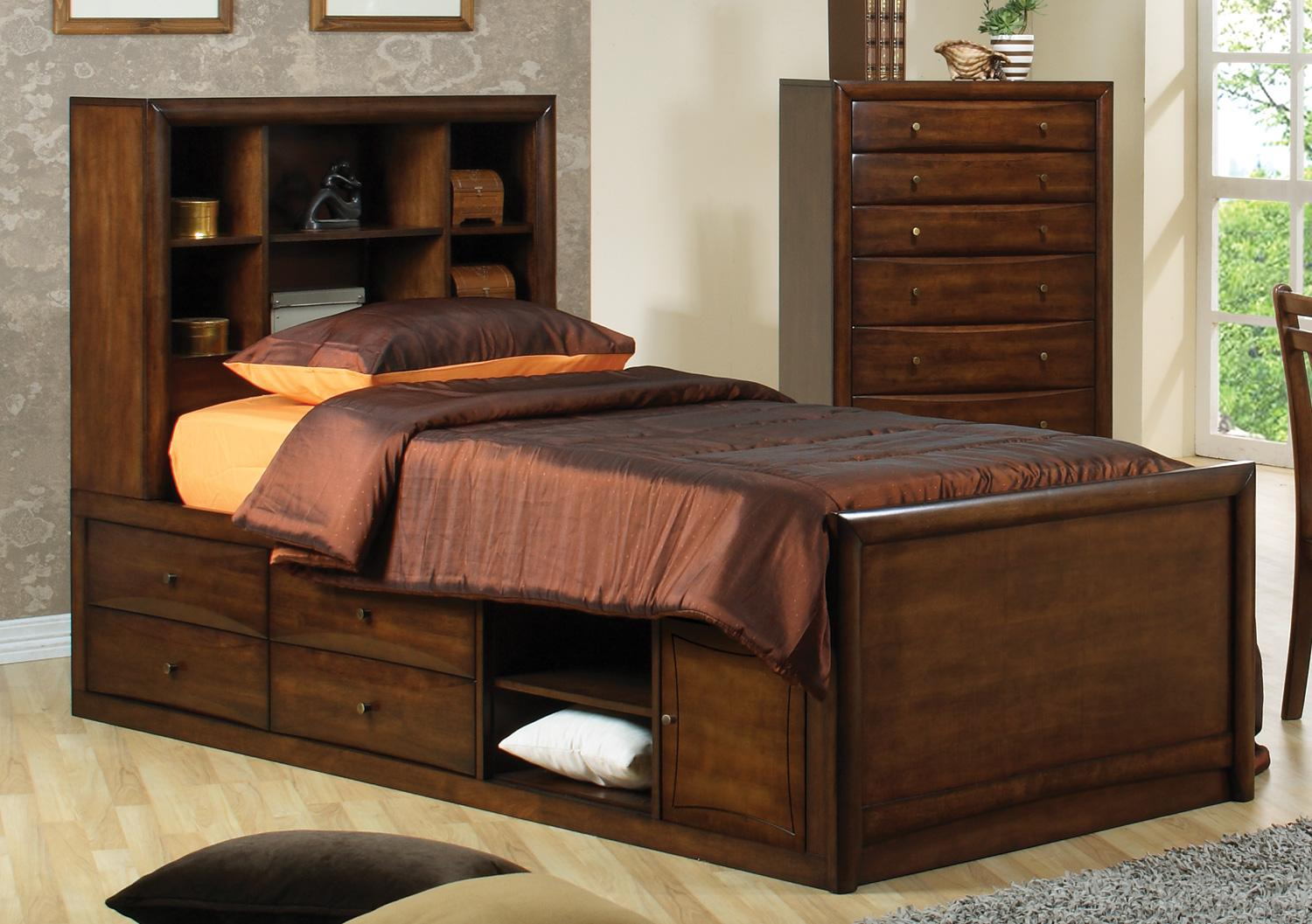 Scott youth captains bed passport furnishings - Youth bedroom furniture with storage ...